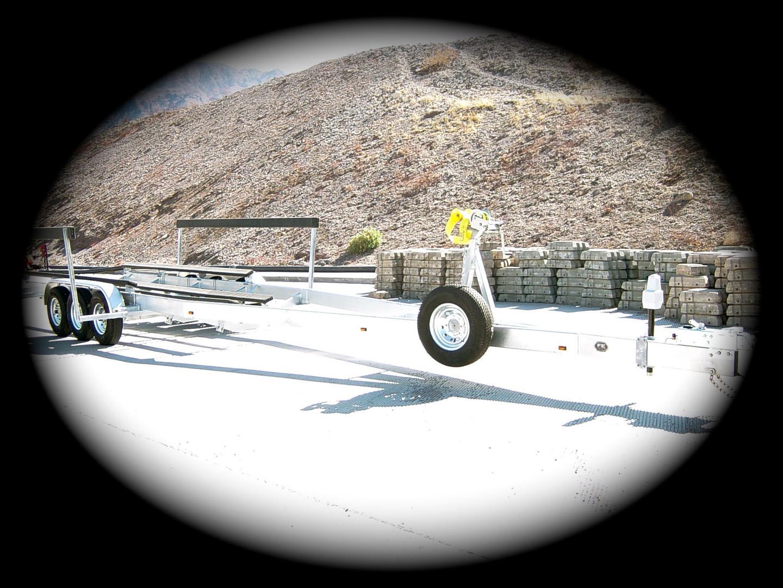 37' Sea Ray 3 axle galvanized trailer