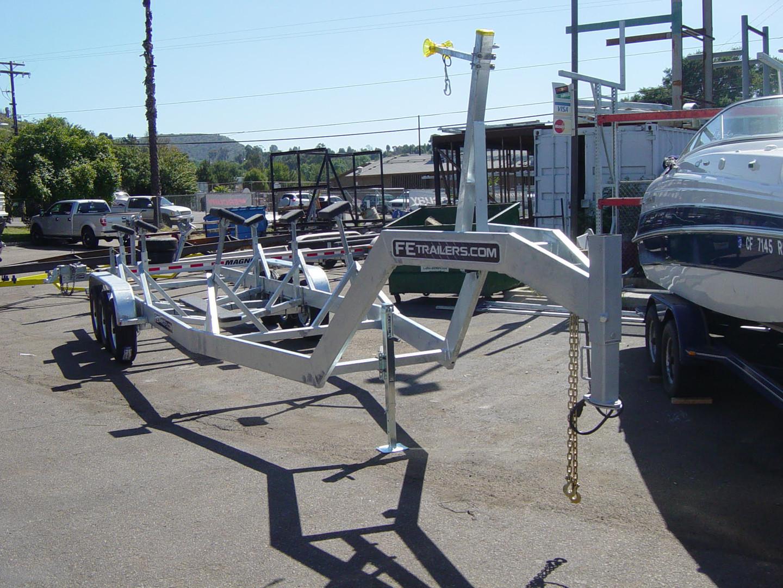 Custom 3 axle 35' Sailboat trailer 5th wheel