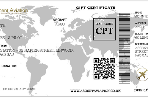 A320 Gift Certificate - 60 Minute Experience