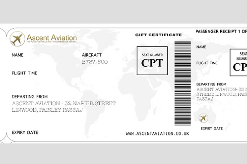 B737NG Gift Certificate - 60 Minute Experience