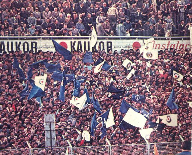 away at Split 1971. hajduk v dzfc