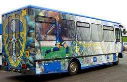 a bus here splashed withtheLUFCbadge