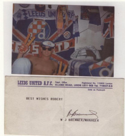 zagreb 1985 with billy signed card
