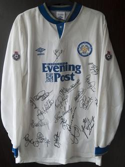 Leeds United Match Worn Shirts - 1991-1992 - Evening Post shirt - Number 15