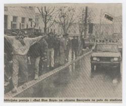 dzfc, belgrade streets 1988