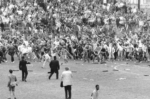 Birmingham City v Leeds match in 1985