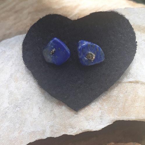 Brincos de Lápis-lazuli