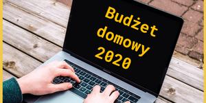 Budżet domowy 2020 na laptopie