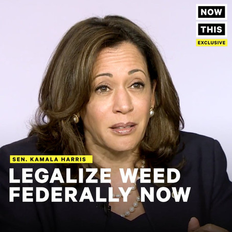 Harris says she'll back Booker's legislation to legalize marijuana