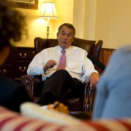 John Boehner's Marijuana Reversal: 'My Thinking on Cannabis Has Evolved'
