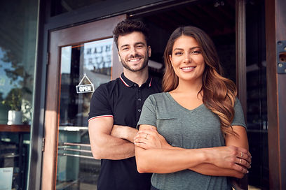 portrait-of-couple-starting-new-coffee-s