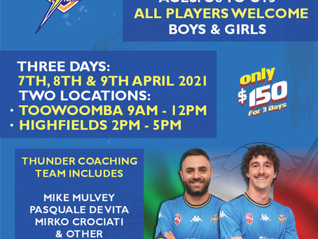 UPDATED - SWQ Thunder Easter Holiday Camps