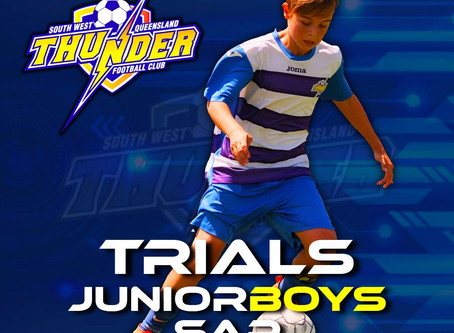 SWQ Thunder Player Identification/Trials for SAP and Junior Boys 2021