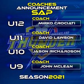 2021 SAP Coaches Announced