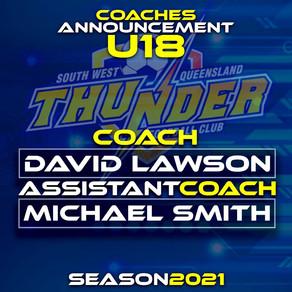 2021 U18 Boys Coaches Announced