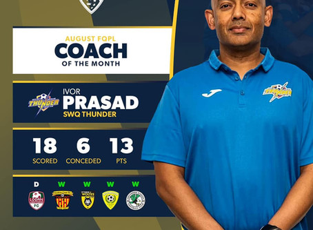 August's FQPL Coach of the Month