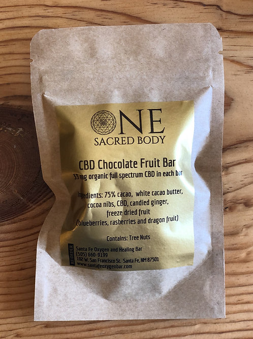 CBD Chocolate Fruit Bar