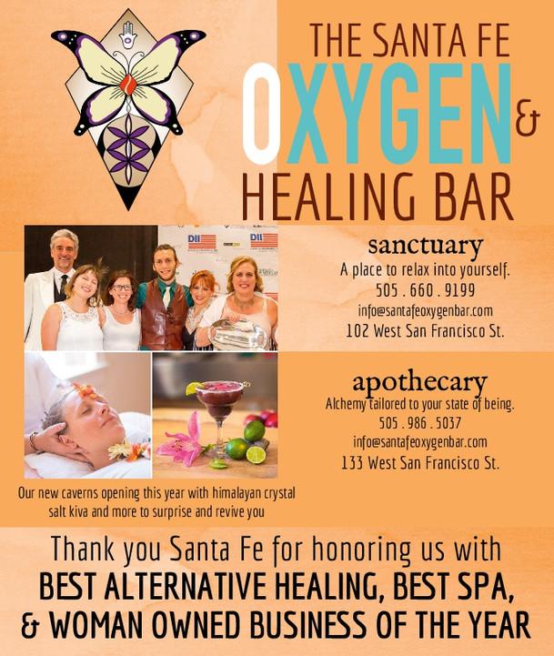 Best of Santa Fe #1 in Best Alternative Healing, #3 Best Spa, & Women Owned Business of the Year