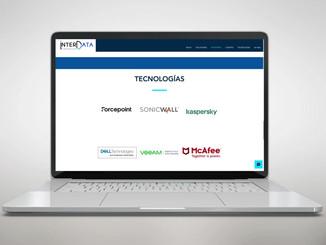 Diseño de logotipo y sitio web de Tech Company