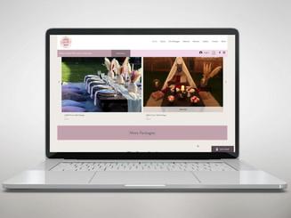 Diseño de logo. Sitio web de la empresa de alquiler de mesas para fiestas con planes de precios.