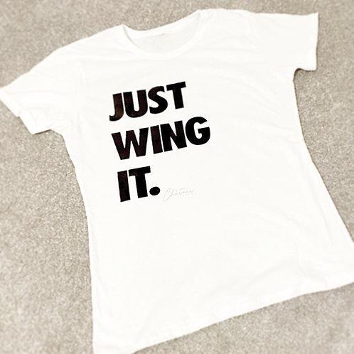 """Just Wing It."" Slogan Tee MENS"