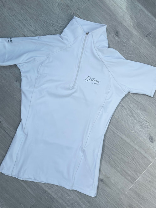 Signature Technical Top/Show Shirt - White