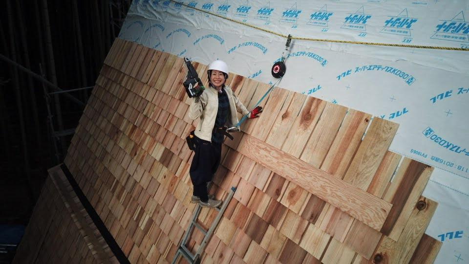 貼った屋根材3600枚