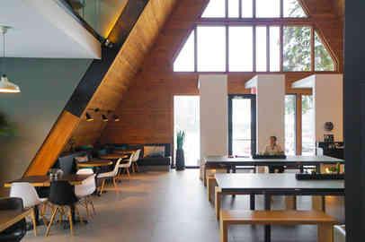カナダのケベックにあるA-frame cafe
