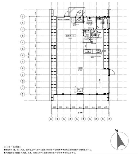 平面計画図:内部に柱は不要で間取りの自由度が高い