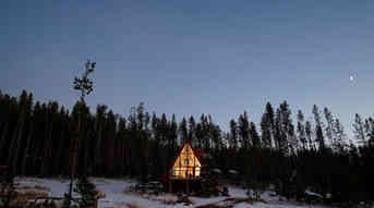 Christmas A-frame house