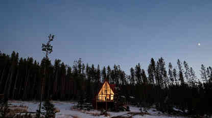 Christmas A-frame house