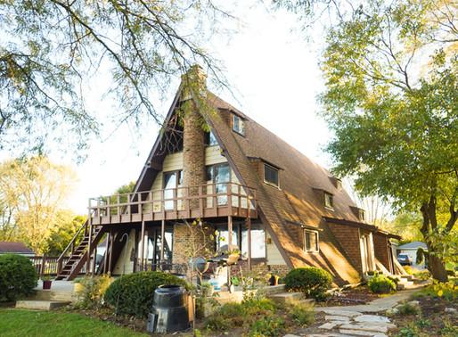 Autumn A-frame house