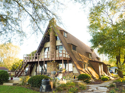 Autumn A-frame house