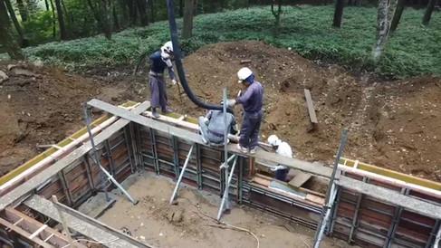 コンクリート打設の様子