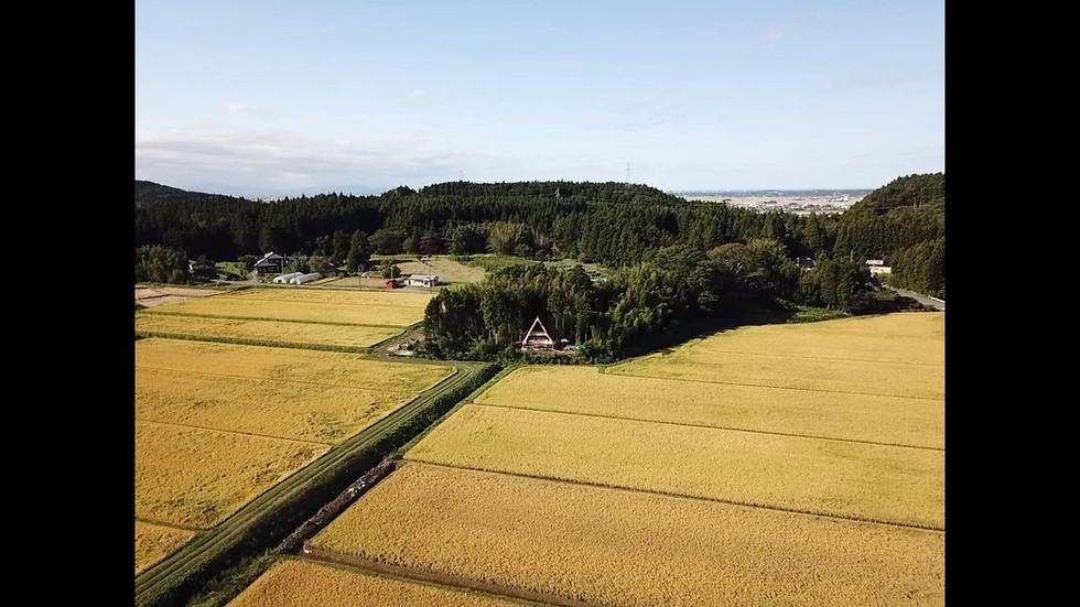 田園の中にA-frame