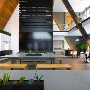 A-frameの教会をカフェにリノベーションした事例