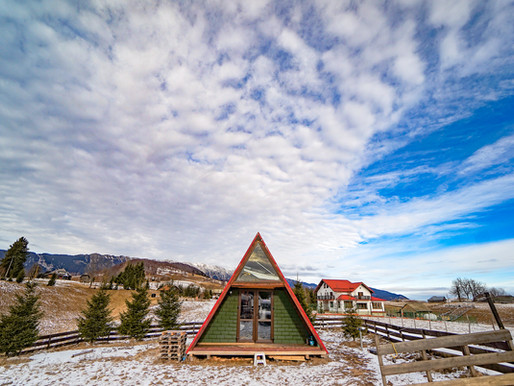 Romania A-frame house