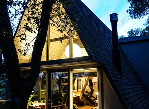 Inside-Outside A-frame house