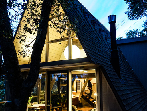 Inside-Outside A-frame house