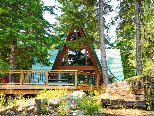 Emerald A-frame house