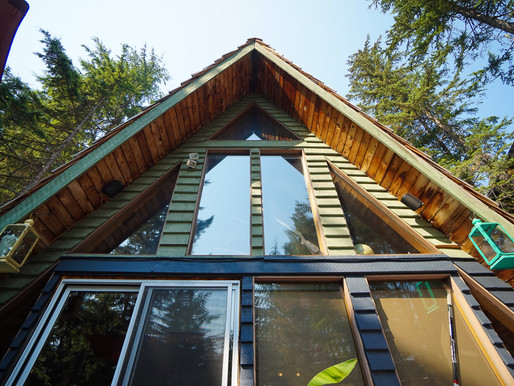 Log A-frame house