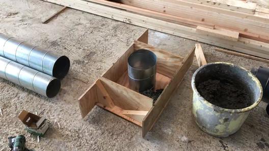 煙突用メガネ石を手作り