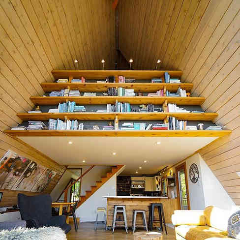 Black-stone A-frame house Union Bay, BC, CANADA / Built in 1972