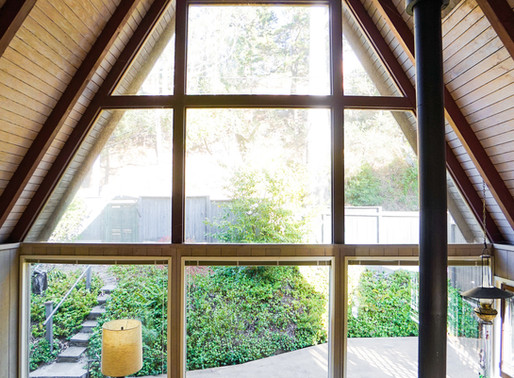 Self-designed A-frame house