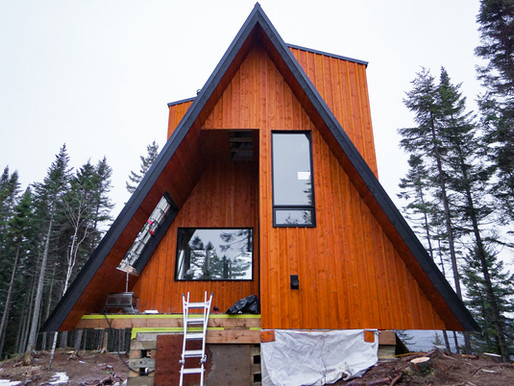 North-mountain A-frame house