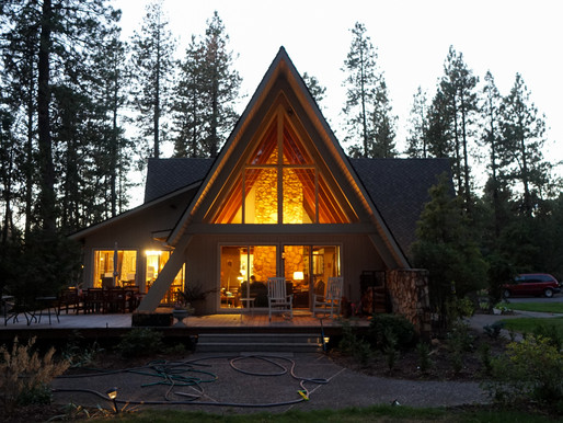 Big Family A-frame house