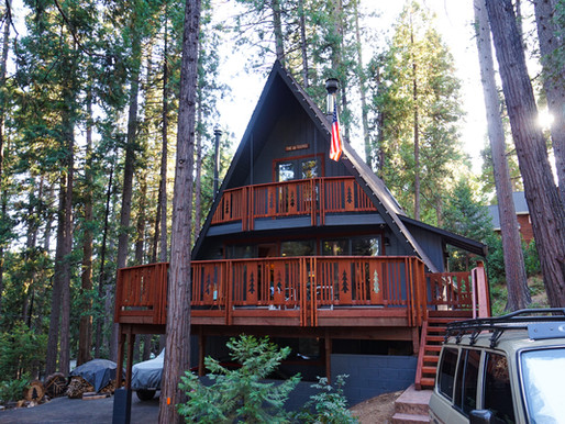 Deep forest A-frame house