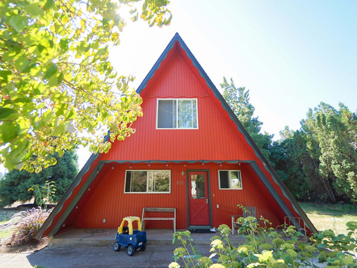 Lovely Red A-frame house
