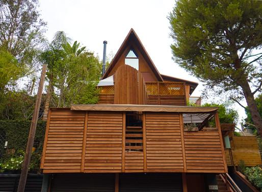 Sophisticated design A-frame house