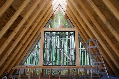 テラス用窓を設置 将来はバルコニーを